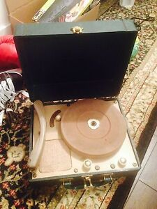 Vintage suitcase record player