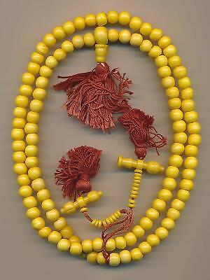 Mala Corn Yellow 108 Pearls (8mm) Rosary Prayer Beads Bijoux 55e