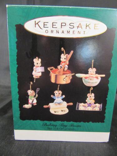 HALLMARK KEEPSAKE ORNAMENT - Miniature - Baking Tiny Treats Mice Dated 1994