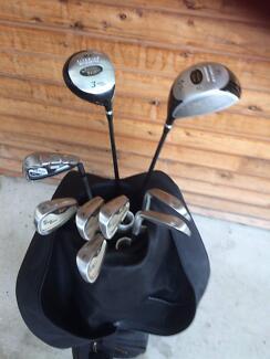 Golden Bear golf clubs- bag - buggy