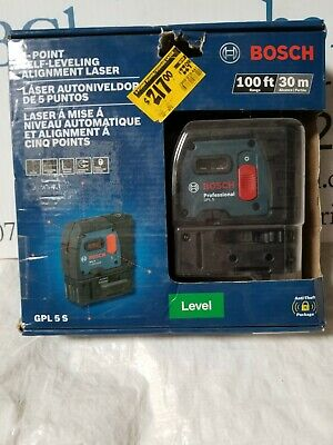 BOSCH 5 POINT LEVELING ALIGNMENT LASER 100FT 30 METER GPL5S