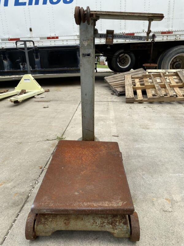 Fairbanks, Morse & Co. Platform Floor Scale Antique 1000 Lbs Capacity