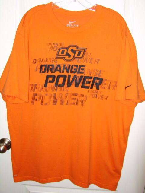 Men's Nike DRI-FIT OSU Oklahoma State Cowboys Orange Power T-Shirt sz 2XL