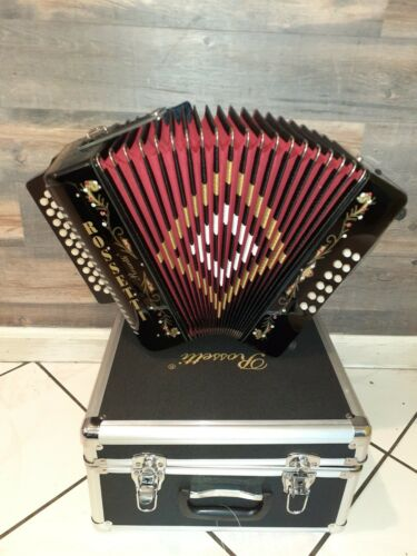 Rossetti accordion 3112 black with case and straps GFC