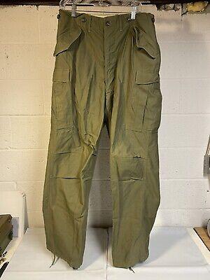 1953 Cotton Green M-1951 Shell Field Trousers Military Cargo Pants MEDIUM Long