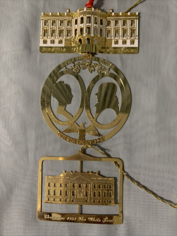 1983, 1985, and 1986 White House Commemorative Christmas Ornaments