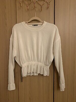 Zara white top/jumper Size S