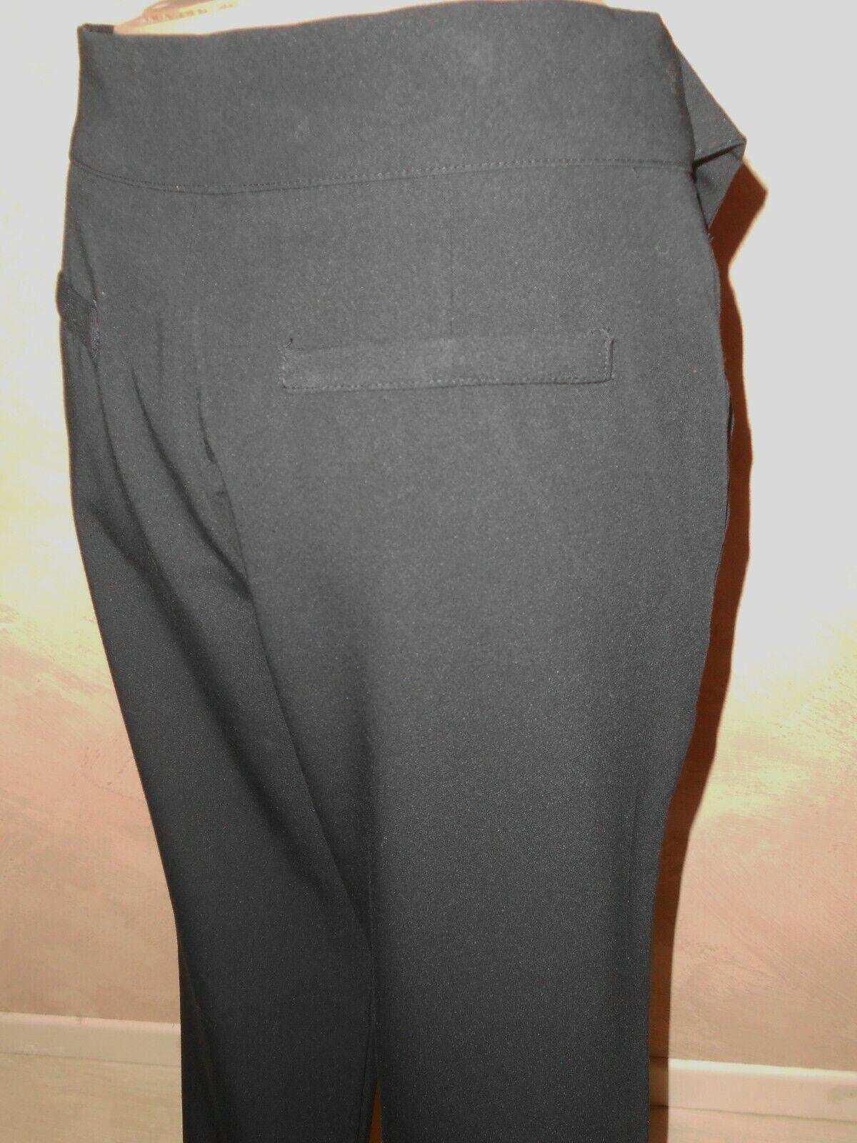 B & k style pantalon noir fluide taille haute   t m 38