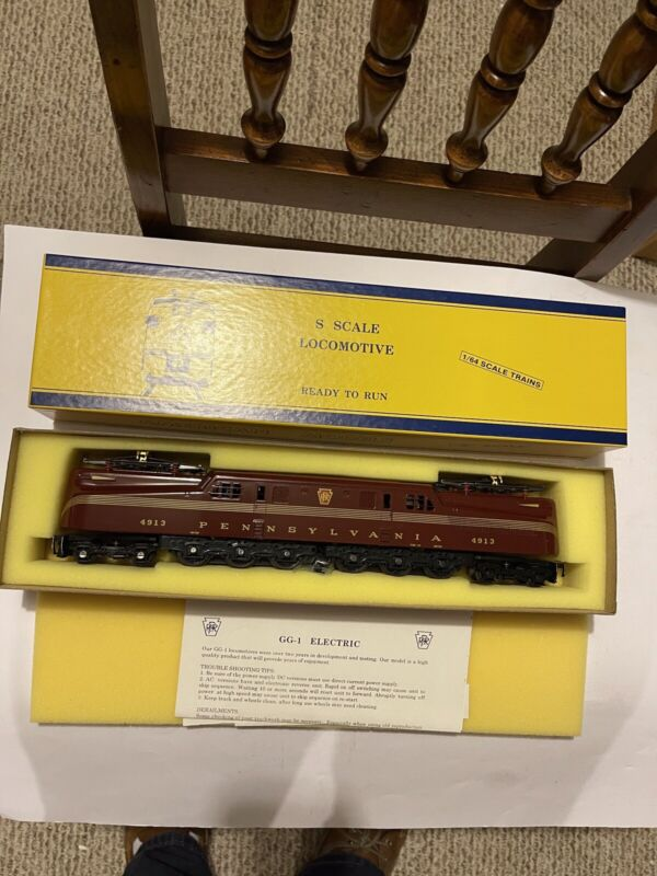 American Models S PRR Tuscan Five Stripe, GG-1 Electric Loco #4913 NIB Hi Rail