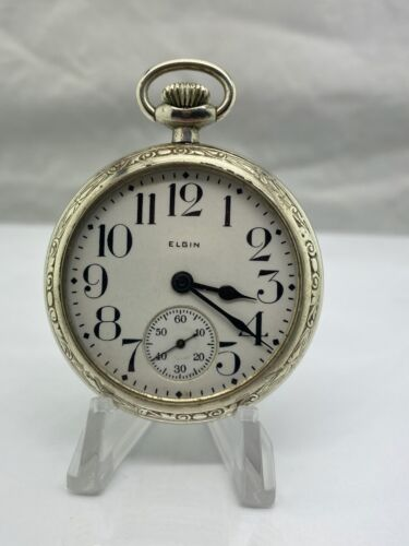 1925 Elgin 313 Model 7 Class 110 16S 15J Base Metal Pocket Watch WITH VIDEO