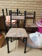 Glass wrought iron 5 piece dining Herne Hill Swan Area Preview