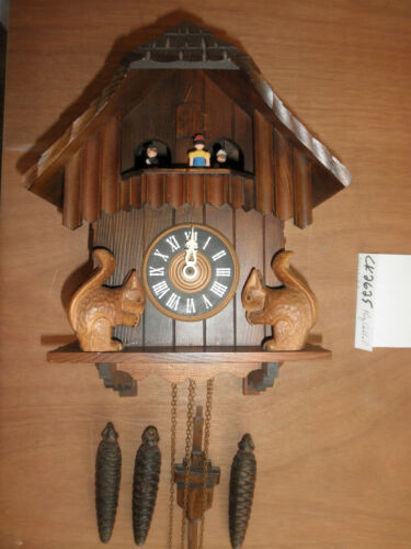 Cuckoo Clock German Black Forest working SEE VIDEO Musical Chalet 1 Day CK2625
