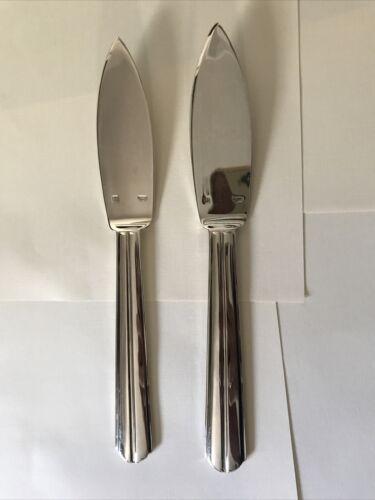 2 Vintage Puiforcat Chantaco Fish Knife, Silverplated Art Deco - $81.00