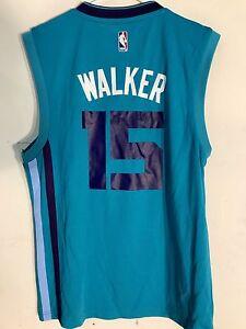 30a4f50dd Adidas NBA Jersey Charlotte Hornets Kemba Walker Teal sz L