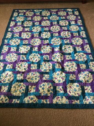 Handmade Quilt, Butterflies and Flowers, Celtic Twist