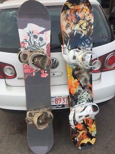 2 Ladies or Junior Snowboards