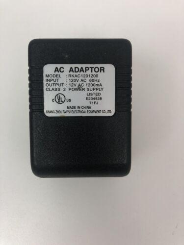 Changzhou TaiYu RKAC1201200 AC/DC Adaptor Output 12V 1200mA Class 2 Power Supply - $14.24