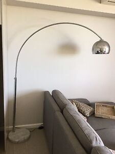 Arched stainless steel lamp with marble base Gladesville Ryde Area Preview