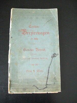 alte Mustersammlung Torten Verzierungen um 1910 mit 56 Tafeln v.Clemens Beyrich
