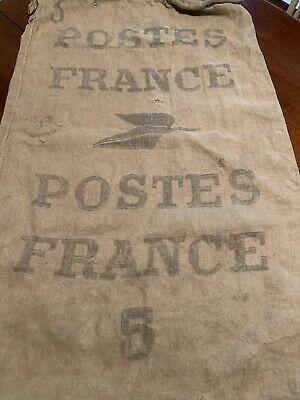 1920s Handbags, Purses, and Shopping Bag Styles Vintage 1920's Era France Postes Postal #5 Canvas Mail Collection/Delivery Bag $119.95 AT vintagedancer.com