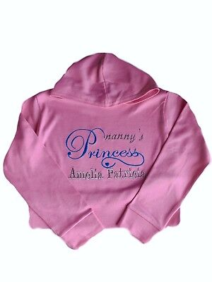 Prince Outfit Toddler (Personalised Nanny's Baby,Toddler,Jumper,Hoodie Name Princess/Prince Outfit)