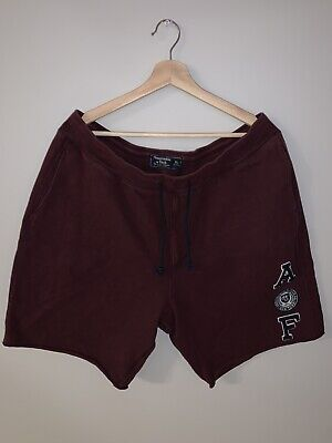 Abercrombie Mens Lounge Shorts Size XL Red / Maroon