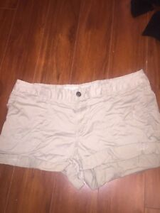Khaki Beige Woman's Shorts