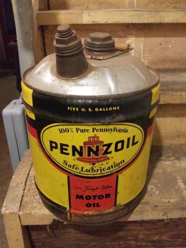 Vintage 5 Gallon Pennzoil Motor Oil Can
