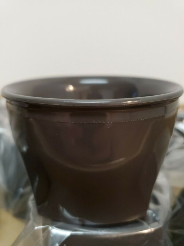 44 Cambro Harbor Collection Smoked Metal 5oz Insulated Bowls Food Delivery