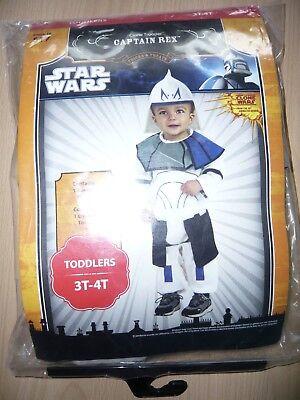 Star Wars Kostüm Captain REX GR 3-4 Jahre mit OVP Halloween (Halloween Kostüme 3 4 Jahre)