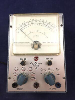 Vintage Rca Voltohmyst Voltmeter Tester Model Wv-77e