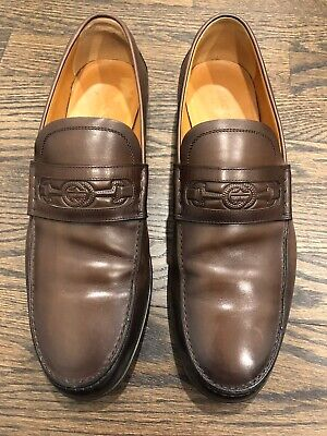 Men's Gucci Cocoa Brown Leather Loafer Gucci Size 8+ Betis Glamour