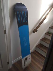 Ride agenda 156 snowboard & ROME snowboard boots