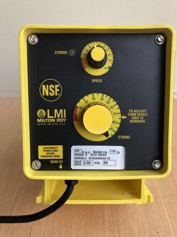 LMI Milton Roy Electromagnetic Dosing Pump, B131-D60HI