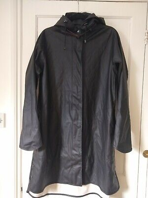 Ilse Jacobsen Raincoat Rain71 A-line Black EU 40 UK 10