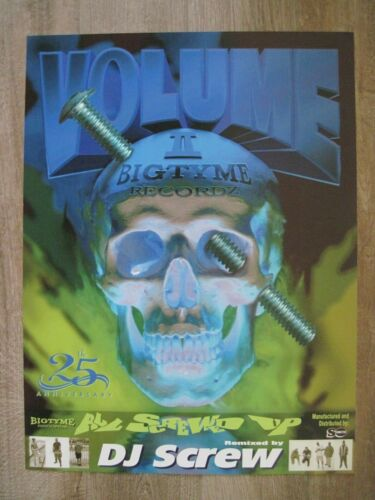 "DJ SCREW ""All Screwed Up"""" 18"" X 24"" Poster Houston Texas"