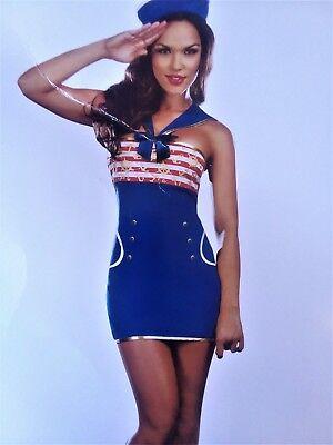Ridin' Waves Sexy Sailor Pin Up Girl Nautical Dress Hat Adult Womens Costume N8 (Pin Up Sailor Girl Costume)