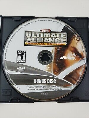 RARE Marvel Ultimate Alliance Special Ed Activision DVD Bonus DISC ONLY -