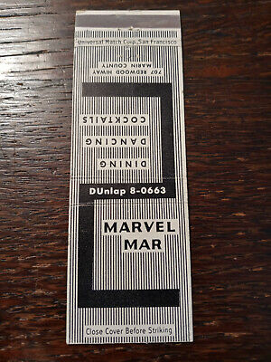 Vintage Matchcover: Marvel Mar, Marin County, CA   84
