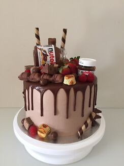Custom Chocolate Birthday Celebration Drip Cakes