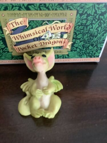 """Real Musgrave The Whimsical World Of Pocket Dragon Figurine 1.75"""" 1993 With Box"""