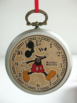Mickey Mouse Pocket Watch NIB Christmas Ornament Kurt Adler Santa's World Disney
