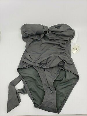 Tommy Bahama Grey Keyhole Halter One-Piece Suit Size 8 New With Tag Free Ship!! Keyhole Halter Suit
