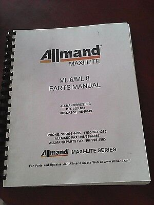 Manual. Allmand Maxi-lite Series. Ml 6ml 8 Parts Manual
