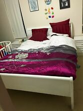 URGENT-  ** WHITE QUEEN SIZE FRENCHSTYLE BED HEAD & 2 MATCHING BE Bridgewater Adelaide Hills Preview
