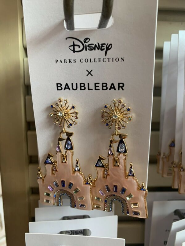 Walt Disney World 50th Anniversary Cinderella Castle Earrings by BaubleBar