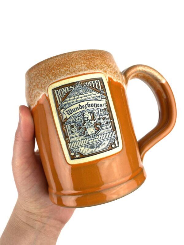 Bones Coffee Company Deneen Pottery Mug 2018 WUNDERBONES Orange