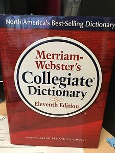 Merriam-Webster's Collegiate Dictionary - 11th edition
