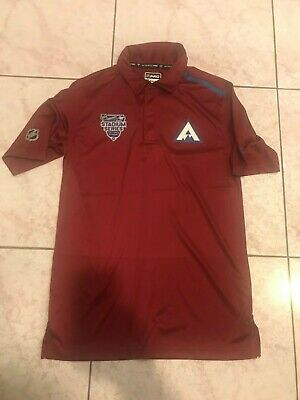 2020 Colorado Avalanche Player Issued Stadium Series Fanatics Polo / Golf Large Colorado Avalanche Player