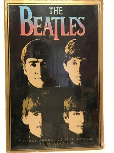 Original Vintage 1966 Beatles Shea Stadium Poster, CA002